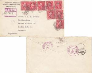 United States Washington Franklins 2c Washington Franklin (8) 1921 Chicago, I...