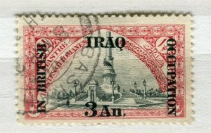 IRAQ; 1918 early BRITISH OCCUPATION issue fine used 3a. value