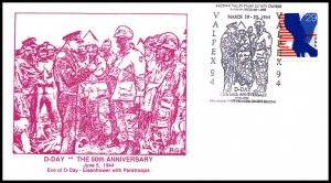 US 50th Anniversary D-Day Valpex 1994 Cover