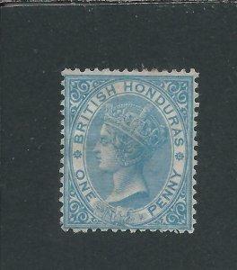 BRITISH HONDURAS 1865 1d PALE BLUE MM SG 1 CAT £70