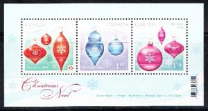 CANADA # 2411  Mint  NH   Souvenir sheet Christmas Tree Decorations