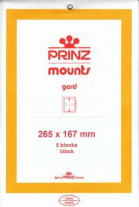 PRINZ BLACK MOUNTS 265X167 (5) RETAIL PRICE $13.50