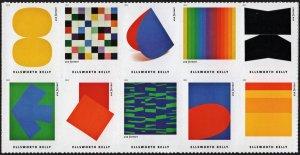 SC#5382-91 (55¢) Ellsworth Kelly Block of Ten (2019) SA
