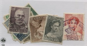 LUXEMBOURG  206-15  USED   212  MINT