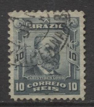 Brazil - Scott 174 - People Definitives Issue -1906 - Used - Single 10r Stamp