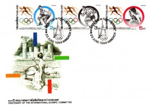 Thailand, Worldwide First Day Cover, Sports