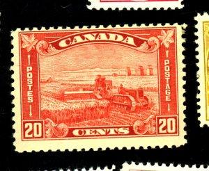 CANADA #175 MINT FVF OG HR LT CREASE Cat $45
