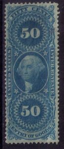 US Sc #R55 Unused,Mint ,No Gum Entry Of Goods Revenue 50c Very Fine