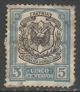 DOMINICAN REPUBLIC 181 VFU ARMS N145-1