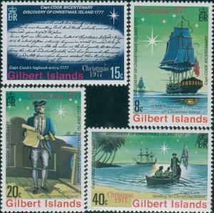 Gilbert Islands 1977 SG55-58 Christmas set MNH