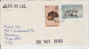 1984 Tuvalu Crafts Officials on paper (Scott O29A, O27) Used