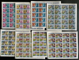 Stamps Full Set in Sheets Football Worldcup USA 94 Central Africa PERF.