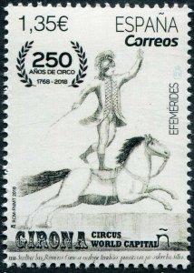 HERRICKSTAMP NEW ISSUES SPAIN Sc.# 4263 250th Anniversary of Circus