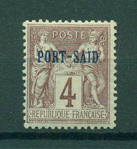 French Offices in Egypt Port Said sc# 4 mh cat val $1.75