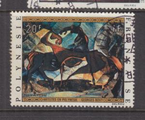 FRENCH POLYNESIA, 1972 Painting, 20f. Horses, used.