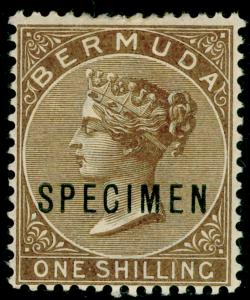 BERMUDA SG29s, 1s yellow-brown, LH MINT. Cat £185.