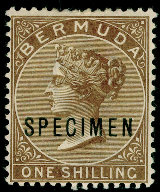 BERMUDA SG29s, 1s yellow-brown, LH MINT. Cat £185. SPECIMEN