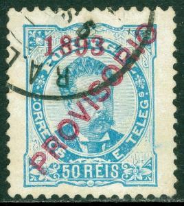 EDW1949SELL : PORTUGAL 1893 Scott #93 Very Fine, Used. Small thin. Catalog $110.