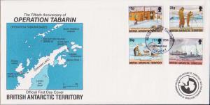 British Antarctic Territory Scott 214-217 Unaddressed.