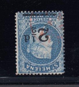 St. Helena, SG 40w, used Watermark Inverted variety