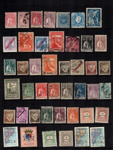 Mozambique 44 diff  mint hinged and used