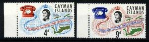 CAYMAN ISLANDS QE II 1966 International Telephone Links Set SG SG 198 & 199 MNH