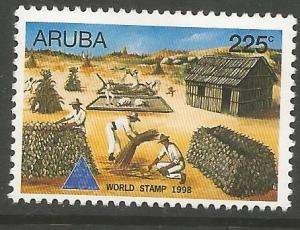 ARUBA  166  MINT HINGED,  WORLD STAMP 1998