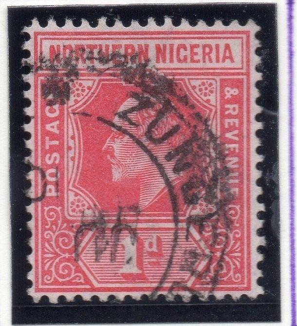 Northern Nigeria 1912 Early Issue Fine Used 1d. 055588