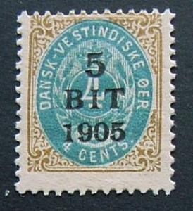 Danish West Indies, Scott 40, Mint