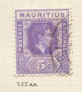 Mauritius 1938 GVI Early Issue Fine Used 5c. NW-90950