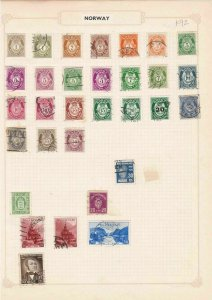 norway stamps on album pages ref 13220