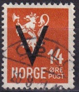 Norway #213  F-VF Used  CV $22.50  (Z8087)