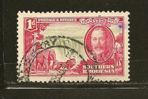 Southern Rhodesia 33 Victoria Falls King George V Used