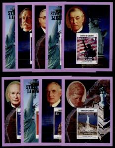Virgin Islands 559-67 MNH Statue of Liberty, Famous People, Truman, Kennedy