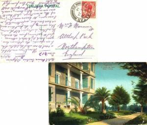 Gibraltar 1d KGV 1914 Gibraltar, 25 PPC (Algeciras, El Jardin del Hotel Reina...