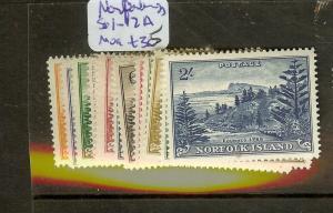 NORFOLK ISLAND (P2012B) SG1-12A     MOG