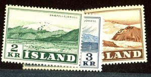 ICELAND #302-4 MINT FVF OG NH Cat $19