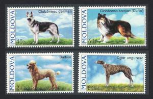Moldova Dogs 4v SG#557-560