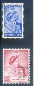 Montserrat 1948 Silver Wedding SG115/6 Fine Used