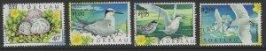 TOKELAU ISLANDS SG302/5 1999 BIRDS FINE USED