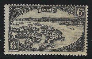 Brunei 1924 6c Black Town Dwellings Sc# 59 mint