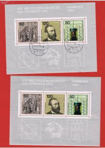 Germany #1420 MNH OG  & VF used  sheets of 3 Congress   Free S/H