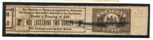 GB REVENUES *TOBACCO* Full Length REVENUE Label Cavendish & Negrohead 1389