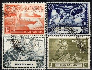 Barbados #212-5   F-VF Used CV $14.85  (X1239)