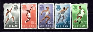 Surinam B75-79 MNH 1960 Olympics