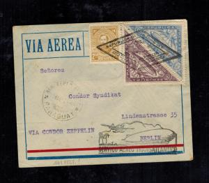1932 Paraguay Graf Zeppelin Cover to Berlin Germany LZ 127 Condor