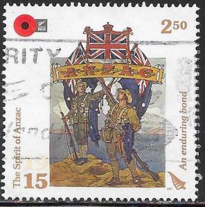 New Zealand 2583 Used - World War I Centenary - An Enduring Bond, Poster