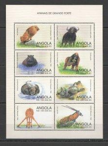 PK169 ANGOLA FAUNA WILD LIFE ANIMALS DO MUNDO 1KB MNH STAMPS