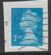 GB QE II Machin SG U2957 - 2nd brt blue -  M14L - Source  none