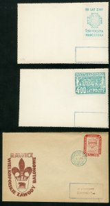 Poland Stamps Lot of 8 Scarce Postal Stationery